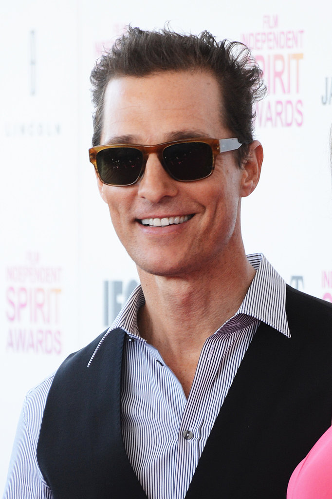 Matthew McConaughey and Camila Alves Brighten Up the Spirit Awards Carpet