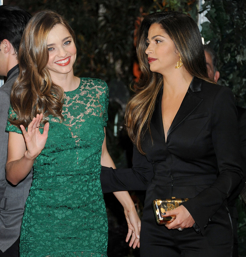 Miranda Kerr caught up with Camila Alves at QVC.