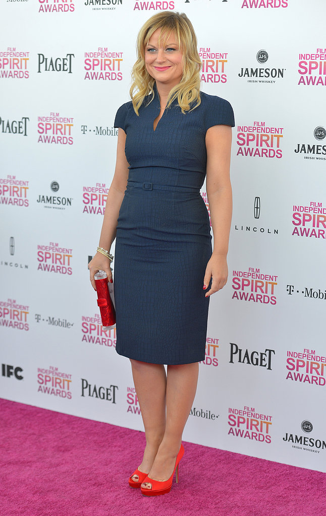 Amy Poehler on the red carpet at the Spirit Awards 2013.