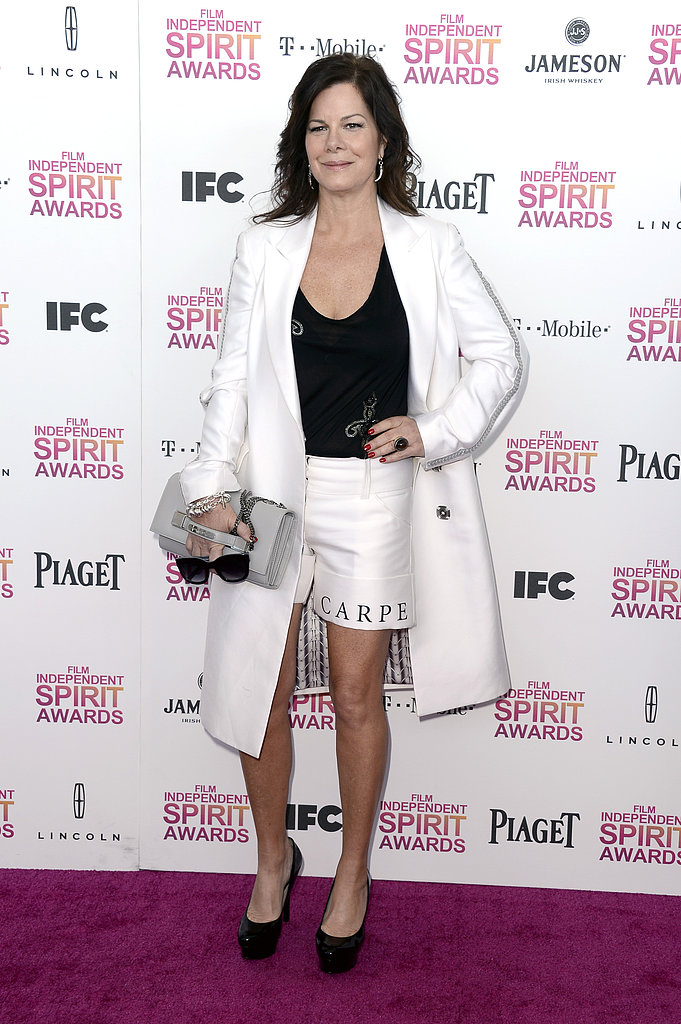 Marcia Gay Harden on the red carpet at the Spirit Awards 2013.