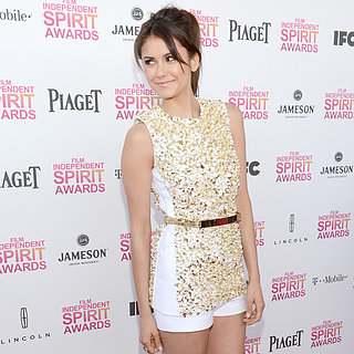 2013 Indepedent Spirit Awards: Nina Dobrev White Short Suit