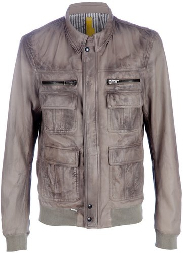 S.W.O.R.D distressed leather jacket