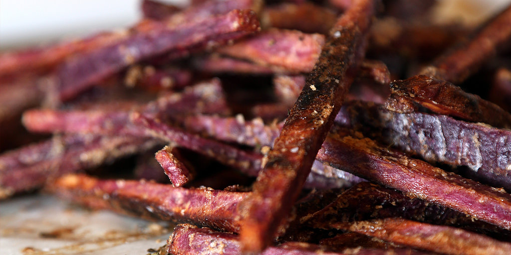 Amethyst-Colored Sweet Potato Fries Brighten Any Plate