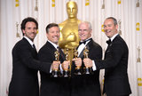 Guillaume Rocheron, Bill Westenhofer, Donald R. Elliott, and Erik-Jan De Boer celebrated their Life of Pi Oscar win.