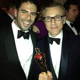 "Eli Roth said he was ""so happy"" for his Inglourious Basterds costar Christoph Waltz's best supporting actor win for Django Unchained.    Source: Instagram user realeliroth"