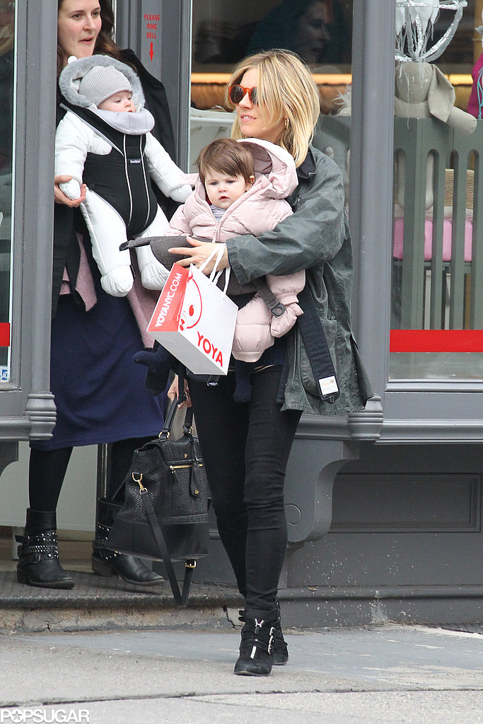 Sienna Miller visited a children's store in the West Village neighborhood of NYC with Marlowe.