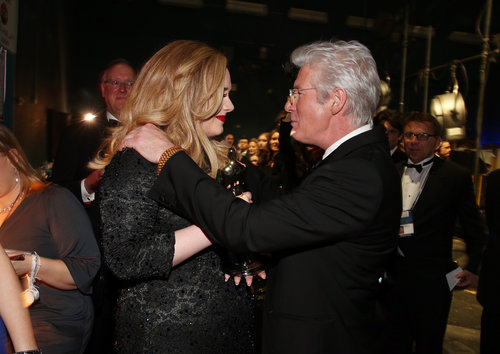 Adele and Richard Gere chatted backstage.