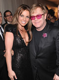 Britney Spears took photos with Elton John.
