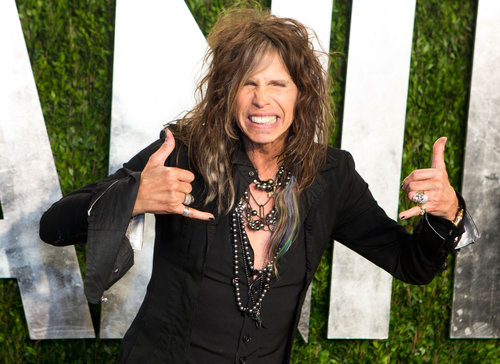 Steven Tyler arrived at the Vanity Fair Oscar party.