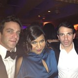 Mindy Kaling and B.J. Novak partied with Chris Messina during the Oscars. Source: Instagram user mindykaling