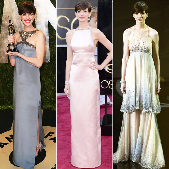 Anne Hathaway Gown: Anne Hathaway's Three Wardrobe Changes For Oscars Night