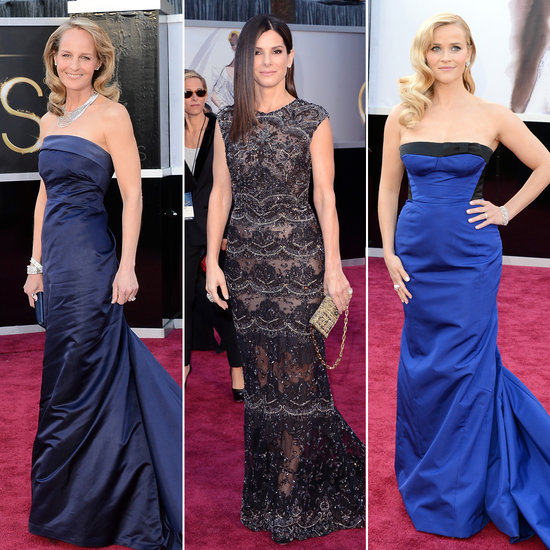 best oscar black and blue dresses 2013 pictures
