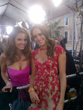Maria Menounos and Louise Roe share a red carpet moment.  Source: Twitter user louiseroe