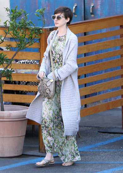 Anne Hathaway stepped out for breakfast in LA.