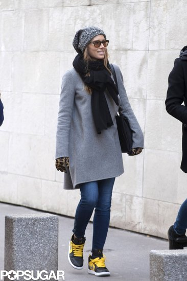 Jessica Biel went sightseeing with a friend in Paris.