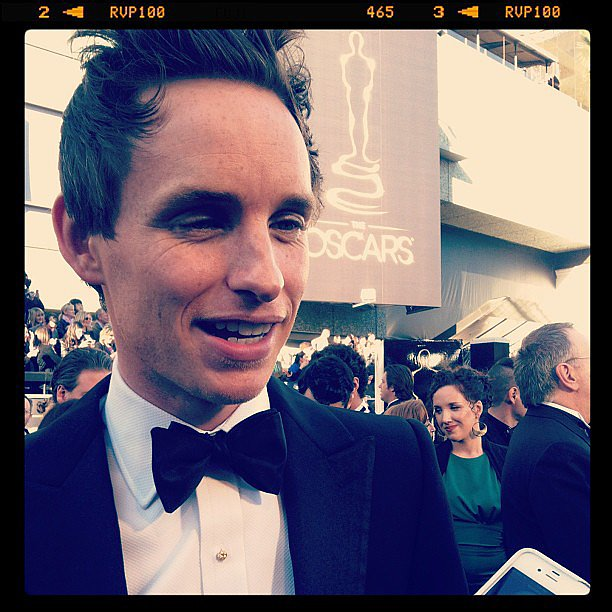 Eddie Redmayne did interviews at the Oscars. Source: Instagram user marcmalkin