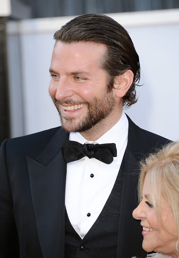Bradley Cooper on the red carpet at the 2013 Oscars.