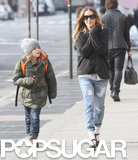 SJP Has a Night Out With Matthew and a Smiley Morning With Her Kids