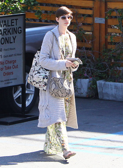 Anne Hathaway stepped out in LA after her Oscar win.