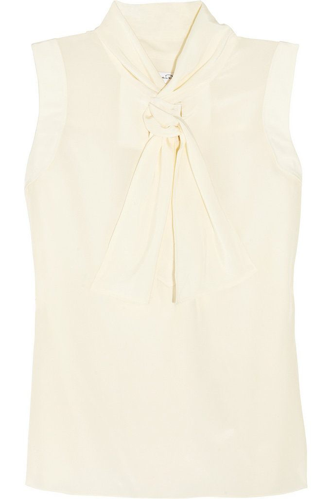 Oscar de la Renta for The Outnet sleeveless silk top