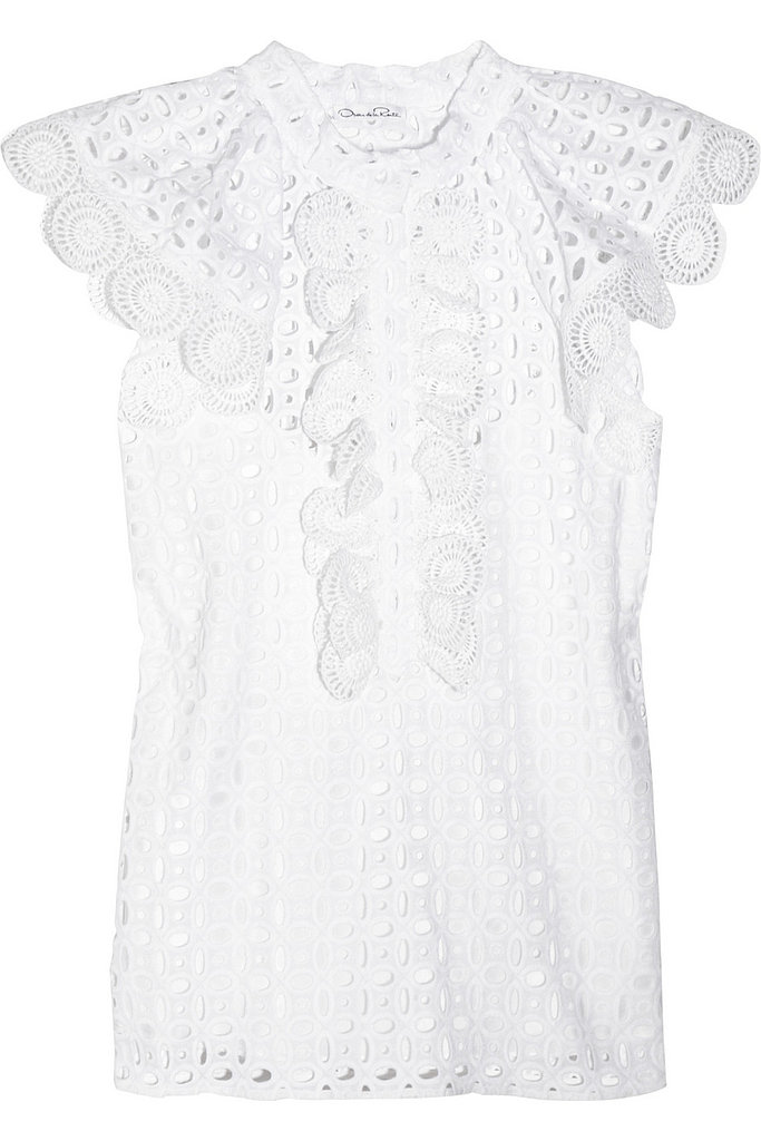 Oscar de la Renta for The Outnet eyelet cotton top ($395)