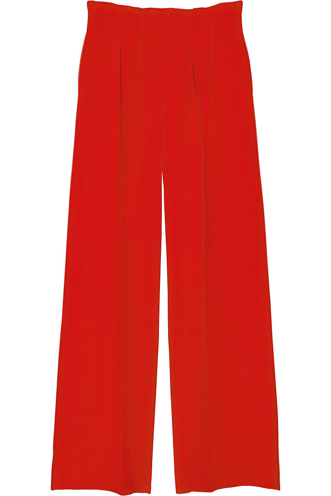 Oscar de la Renta for The Outnet silk and wool-blend crepe wide-leg pants ($395)