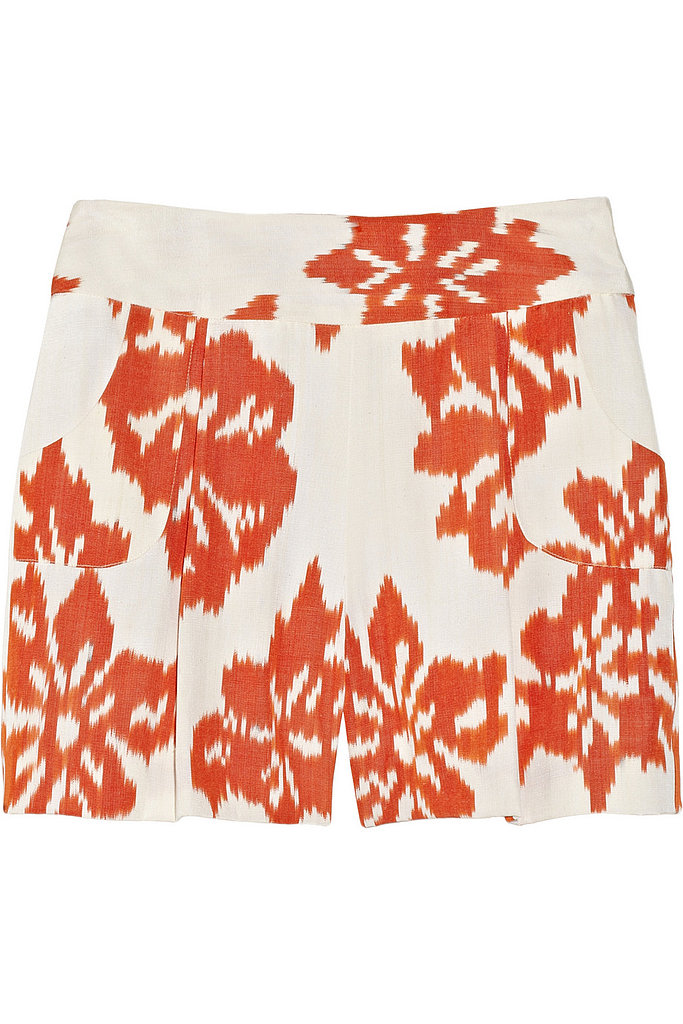 Oscar de la Renta for The Outnet woven silk ikat shorts ($325)