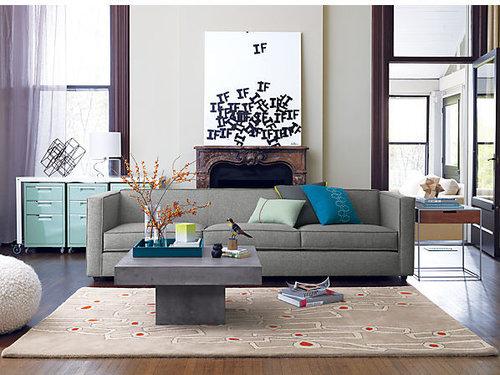Club Grey 3-Seater Sofa