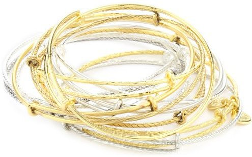 "Alex and Ani ""Trend Classics"" Signature Bangles Set of 12"