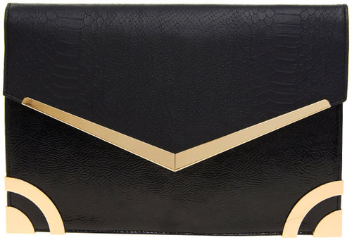 New Look Metal Edge Mia Clutch Bag