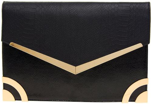 New Look Metal Edge Mia Clutch Bag