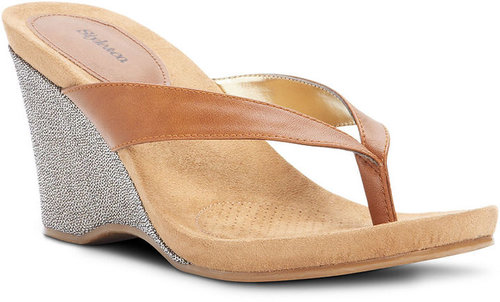 Style&co. Shoes, Chicklet Wedge Sandals