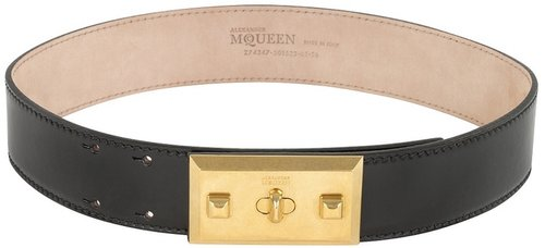Black Plaque Belt