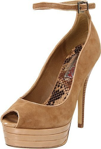 Two Lips Women's Tempest Peep Toe Pump