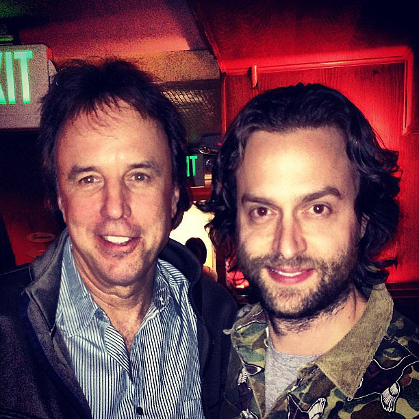 Two funny men — Chris D'Elia and Kevin Nealon — got together after performing at Laugh Factory.  Source: Instagram user chrisdelia