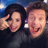 Ryan Seacrest goofed off with Demi Lovato.  Source: Instagram user ryanseacrest