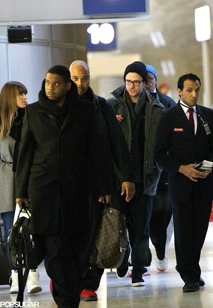 Justin and Jessica Jet Out of Paris Together