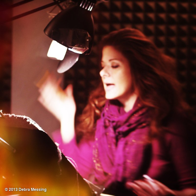 Debra Messing hit the recording studio to do voice-overs for a children's book. Source: Debra Messing on WhoSay