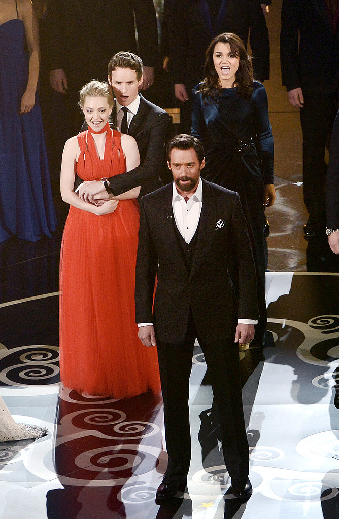 The Les Misérables ensemble sang onstage at the Oscars.
