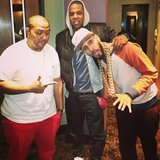 Swizz Beatz snapped a photo with Timbaland and Jay-Z. Source: Twitter user THEREALSWIZZ