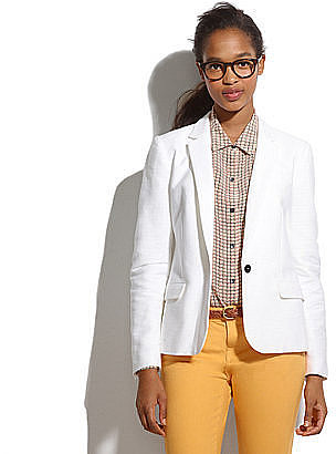 Spring-White Blazer