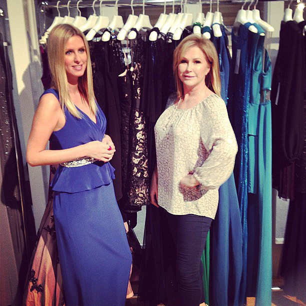 Nicky Hilton checked out her mom Kathy's dress line at the Coterie trade show in NYC. Source: Twitter user NickyHilton
