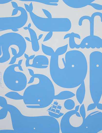 Little Whales Wallpaper