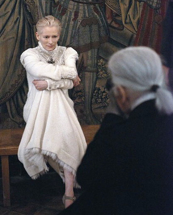 Tilda Swinton for Chanel