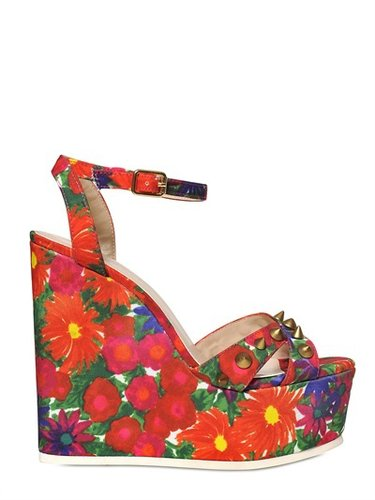 Carvela Kurt Geiger - 140mm Gardenia Floral Wedges