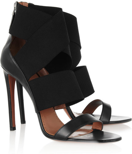 Alaïa Leather and stretch sandals