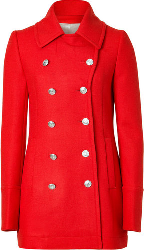 McQ Alexander McQueen Red Double-Breasted Wool-Cashmere Coat