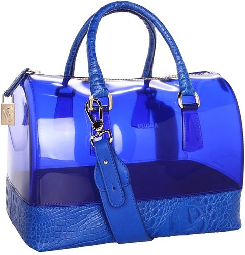 Furla Handbags - Candy Bag with Leather (Ocean) - Bags and Luggage