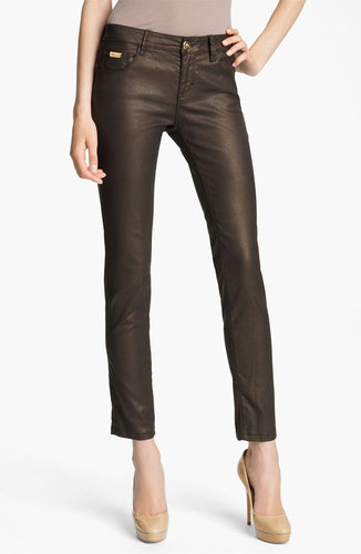 Blumarine Skinny Faux Leather Pants