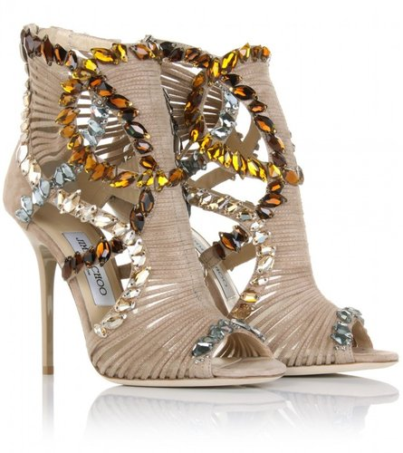 Jimmy Choo ELBA EMBELLISHED SANDAL BOOTIES
